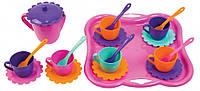 Набор игрушечной посуды Ромашка с подносом 22 элемента