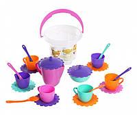 Набор игрушечной посуды Ромашка в ведре 23 элемента, Тигрес