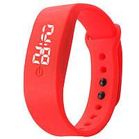 Часы спортивные силиконовые красные