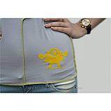 """44/S Дизайнерская футболка """" Чудик"""" в в светло-сером цвете, фото 2"""