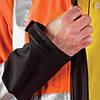 Куртка рабочая водонепроницаемая сигнальная с отстегивающимися рукавами (утепленная спецодежда) LH-ASCONA PB, фото 6