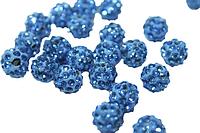 Шарики (для браслетов Шамбала) Поштучно Холодно-Голубой