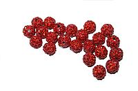 Шарики (для браслетов Шамбала) Поштучно Красный