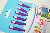 Шнурки обувные (силиконовые) ОДНОТОННЫЕ (6шт) Комплект Фиолетовый