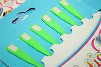 Шнурки обувные (силиконовые) ОДНОТОННЫЕ (6шт) Комплект Салатовый