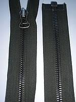 Молния металлическая riri 65см темно-зеленая тесьма черненое звено, тип 8