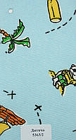 Рулонные шторы Одесса Ткань Детская Голубой