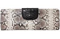 Женская сумка из кожи питона (PTC 109 Natural/Black), фото 1