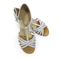 Туфли для танцев детские (цвет: белый)