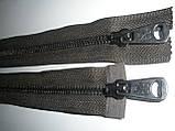 Блискавка металева роз'ємна Т-5, 90см, 2 бігунка, фото 2