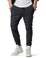 Мужские молодежны  тёплые спортивные брюки. Зауженные до колен.