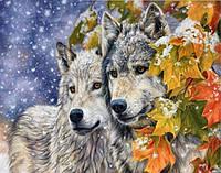 Набор алмазной вышивки Зима для волков 40 х 30 см (арт. FS318)