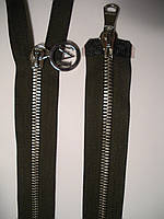 Молния металлическая разъемная Т-5, 90см, 2 бегунка, фото 1