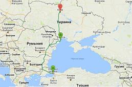 Стамбул,Турция → через Ильичевск,Украина → Киев, Украина