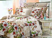 Бежевое постельное белье  двуспального размера
