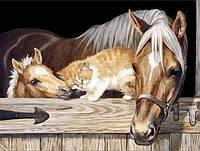 Набор алмазной вышивки Нежность животных 40 х 30 см (арт. FS317) , фото 1