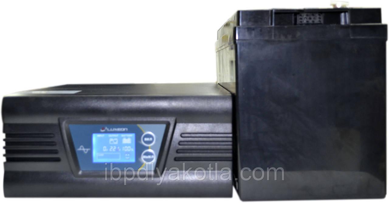 Комплект резервного питания ИБП Luxeon UPS-500ZD + АКБ Luxeon LX12-100MG для 7-12ч работы газового котла
