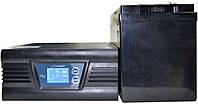 Комплект резервного питания ИБП Luxeon UPS-500ZD + АКБ Luxeon LX12-100MG для 7-12ч работы газового котла, фото 1
