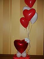 Композиція з сердець на День святого Валентина