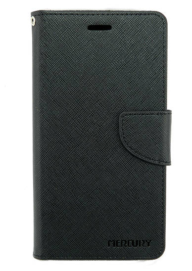 Чехол книжка для Lenovo K6 Note K53a48 боковой с отсеком для визиток, Mercury GOOSPERY Черный