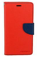 Чехол книжка для Lenovo K6 Note K53a48 боковой с отсеком для визиток, Mercury GOOSPERY Красный