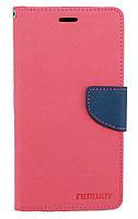 Чехол книжка для Lenovo K6 Note K53a48 боковой с отсеком для визиток, Mercury GOOSPERY Розовый
