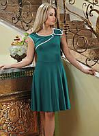 Платье ментол клеш р.42