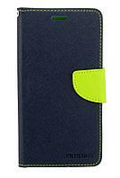 Чехол книжка для Lenovo K6 Note K53a48 боковой с отсеком для визиток, Mercury GOOSPERY Синий