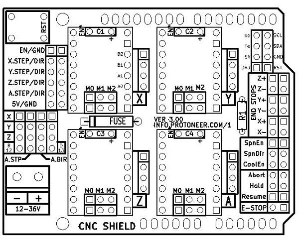 Заказать Плата расширения для Arduino UNO CNC Shield v3.0