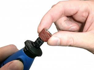 Абразивные цилиндры ассорти 10шт (big) с держателем, фото 2