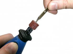 Абразивные цилиндры ассорти 10шт (big) с держателем, фото 3