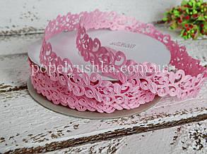 Стрічка мереживна 2 см рожева