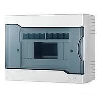 Lezard Бокс з прозорою кришкою ЩРН-П-8 для зовнішньої установки 8-й модульних пристроїв