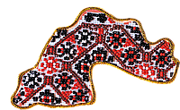 """Набор для вышивки бисером «Магнит """"Карта Украины» Днепропетровская область"""