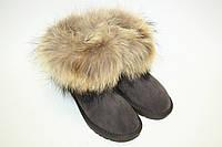 Угги с лисой  Oscar Fur  Ул - 2 Серый, фото 1