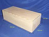 Коробка Пенал 35х15х11 см дерево заготовка для декора, фото 2