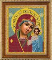 Рисунок на ткани для вышивания бисером Богородица Казанская БИС 1204