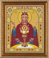 Рисунок на ткани для вышивания бисером Богородица «Неупиваемая чаша» БИС 1213