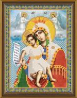 Рисунок на ткани для вышивания бисером Богородица «Достойно Есть» БИС 5011
