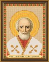 Рисунок на ткани для вышивания бисером Св. Николай Чудотворец БИС 5013