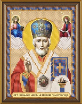Рисунок на ткани для вышивания бисером Св. Николай Чудотворец БИС 5014