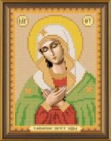 Рисунок на ткани для вышивания бисером Богородица «Умиление» БИС 5022