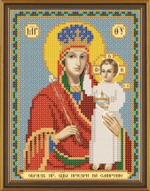 Рисунок на ткани для вышивания бисером Богородица «Призри на смирение» БИС 5027