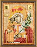 Рисунок на ткани для вышивания бисером Богородица «Неувядаемый цвет» БИС 5053