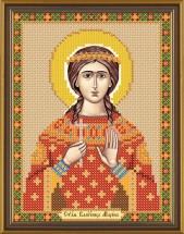Рисунок на ткани для вышивания бисером Св. Вмц. Марина (Маргарита) Антиохийская БИС 5132