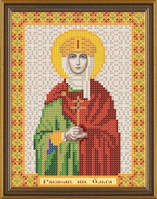 Рисунок на ткани для вышивания бисером Св. Равноап. Ольга Княгиня Киевская БИС 5139