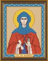 Рисунок на ткани для вышивания бисером Св. Прп. Аполлинария БИС 5140