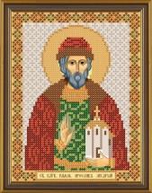 Рисунок на ткани для вышивания бисером Св. Блгв. Ярослав Мудрый Князь Киевский БИС 5160