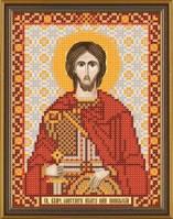 Рисунок на ткани для вышивания бисером Св. Вмч. Никита Готфский БИС 5175