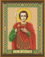 Рисунок на ткани для вышивания бисером Св. Вмч. Дмитрий (Димитрий) Солунский Мироточивый БИС 5176
